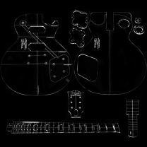 59 Les Paul template - Luthier tools - TLC guitar Goods