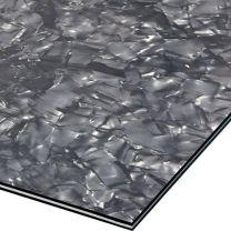 Black pearloid 3-ply pickguard blank 210x290x2.2 mm