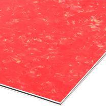 Red pearloid 3-ply pickguard blank 210x290x2.2 mm