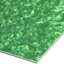 Green pearloid 3-ply pickguard blank 210x290x2.2 mm