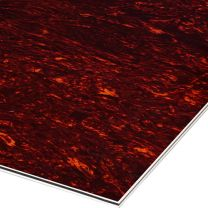 Rood tortoise 4-ply slagplaat blank 210x285x2.2 mm