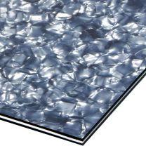 Ijsblauw marmer 3-ply dubbele slagplaat blank 435x290x2.2 mm