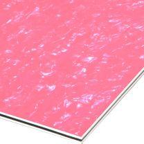 Pink flamengo pearloid 3-ply pickguard blank 210x290x2.2 mm