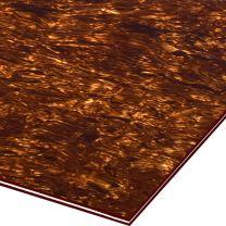 Tortoise bruin pearloid 4-ply slagplaat blank 300x290x2.2 mm