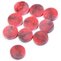 Dot 6mm red/black swirl