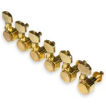 Locking guitar tuners 6 in line vintage gold