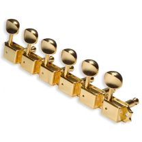 Gotoh vintage staggered tuners 6 in line gold