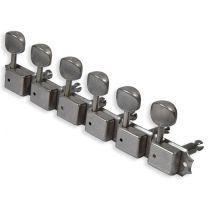 Gotoh vintage staggered tuners 6 in lijn verouderd nikkel