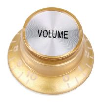 Bell knob volume gold-silver