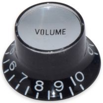 Bell knob volume Inch size black-silver