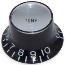 Bell knob tone Inch size black-silver