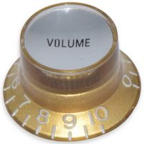 Bell knob volume Inch size gold-silver