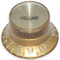 Bell knob volume Inch size gold-gold