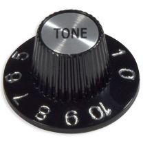 Bell knob tone Inch size black-silver high