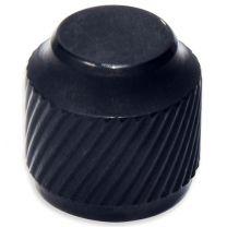 Knob push-on metal black