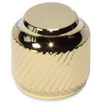 Knob push-on metal gold