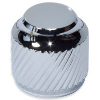 Knob push-on metal chrome