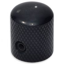 Metal knob with hex black small