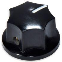 Bas knop bakeliet zwart