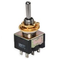 Mini toggle switch on-off-on gold