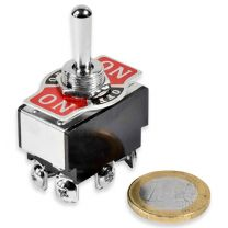 Toggle switch with plate on-off-on
