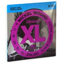 D'Addario XL nickel roundwound strings super light 009-042