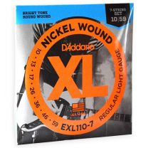 D'Addario XL nickel roundwound 7 snaren regular light 010-056