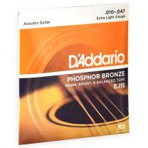 D'Addario Phosphor Bronze akoestische snaren extra light 010-047