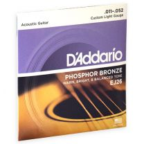 D'Addario Phosphor Bronze akoestische snaren custom light 011-052