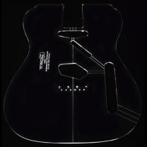Custom guitar body template