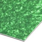 Green pearloid 3-ply pickguard blank 210x290x2.2 mm