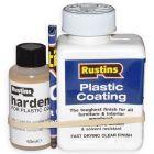 Plastic coating & hardener gloss 250ml
